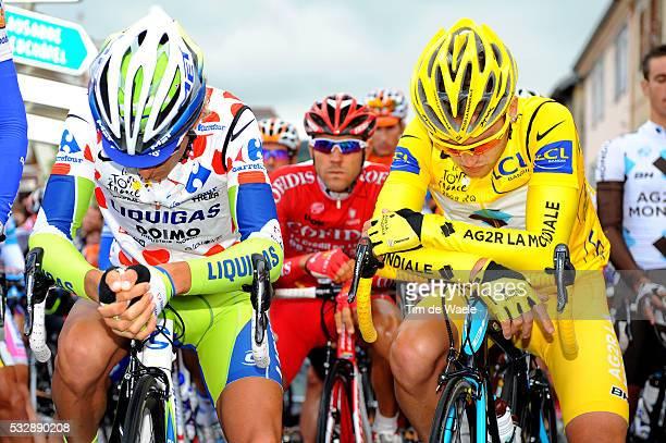 'Cycling Tour de France 2009 / Stage 15 Start / PELIZOTTI Franco Mountain Jersey / NOCENTINI Rinaldo Yellow Jersey / Gele Trui Maillot Jaune / One...