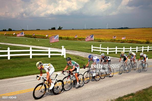 'Cycling Tour Missouri / Stage 6 Illustration Illustratie / Peleton Peloton / Landscape Paysage Landschap / Dominique CORNU / Antonio CRUZ /...
