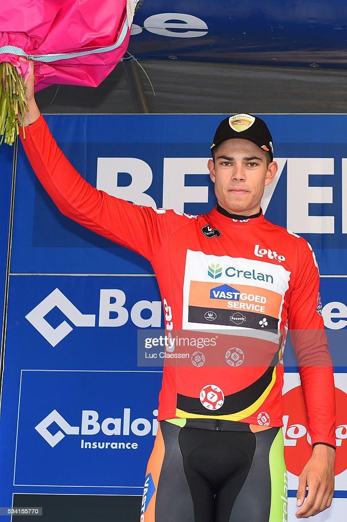 Tour of Belgium 2016 / Prologue Podium / Wout VAN AERT (BEL) Celebration / Beveren - Beveren (6Km)/ Time Trial ITT / Tour of Belgium /