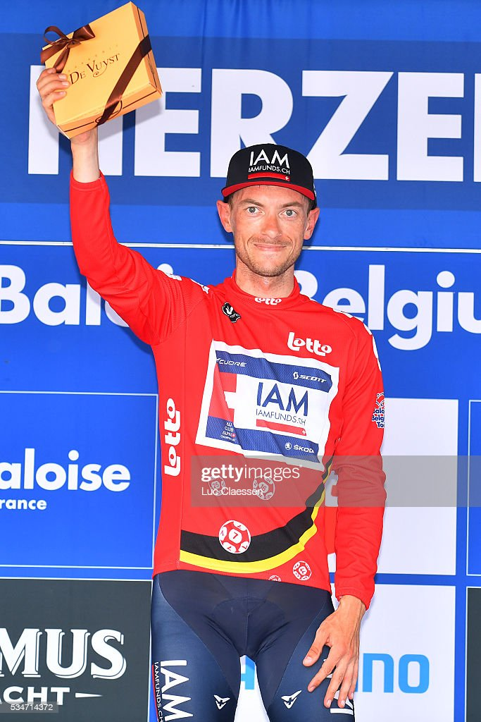 Tour of Belgium 2016 / Stage 3 Podium / Dries DEVENYNS (BEL) Red leaders jersey /Celebration / Knokke-Heist - Herzele (200,4Km) / Tour of Belgium /