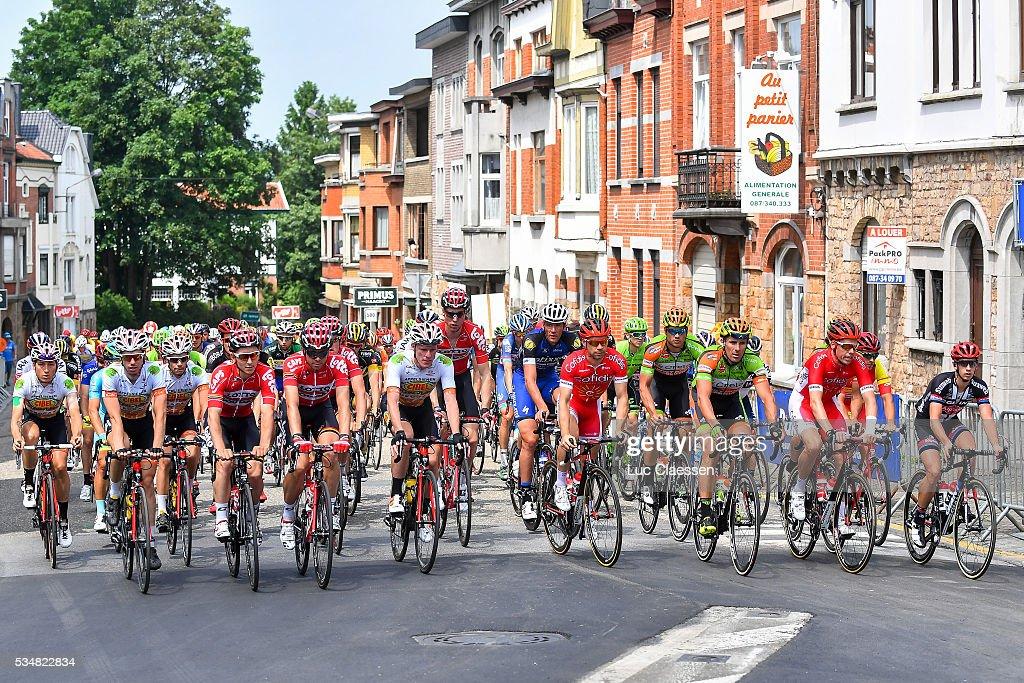 Tour of Belgium 2016 / Stage 4 Illustration / Neutralisation / Jasper DEBUYST (BEL) / Kris BOECKMANS (BEL) / Marcel SIEBERG (GER) / Stijn VANDENBERGH (BEL) / Michael VAN STAEYEN (BEL) / David BOUCHER (BEL) / Lars VAN DER HAAR (NED) / Stage Canceled due to Crash / Verviers - Verviers (206,9Km) / Tour of Belgium /