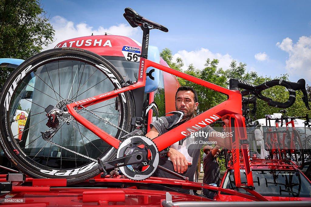 Tour of Belgium 2016 / Stage 4 Illustration / Team KATUSHA (RUS)/ Mechanic / Canyon Bike / Stage Canceled due to Crash / Verviers - Verviers (206,9Km) / Tour of Belgium /