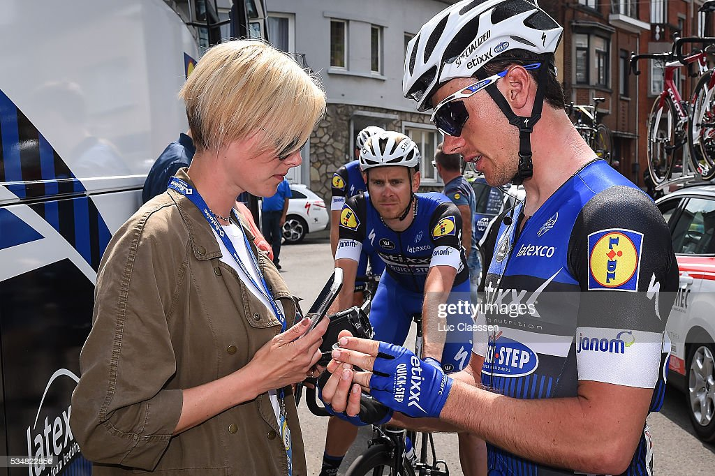 Tour of Belgium 2016 / Stage 4 Yves LAMPAERT (BEL) / Stephanie CLERCKX (BEL) Team ETIXX - QUICK-STEP (BEL)/ Press Officer / Stage Canceled due to Crash / Verviers - Verviers (206,9Km) / Tour of Belgium /