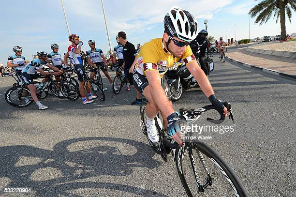 Tour of Qatar 2013 / Stage 5 Arrival / Mark CAVENDISH Yellow Jersey / Al Zubara Fort Madinat Al Shamal / Ronde Etape Rit /Tim De Waele