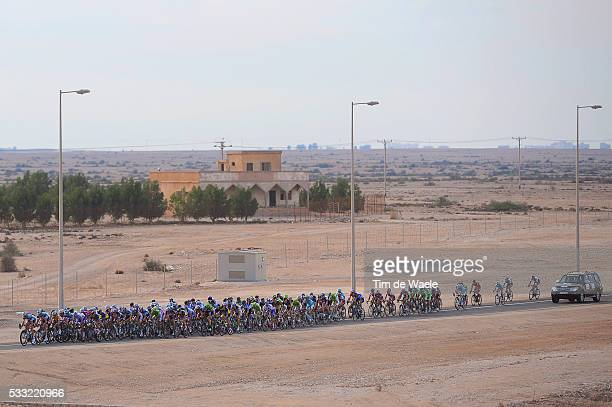 Tour of Qatar 2013 / Stage 5 Illustration Illustratie / Peleton Peloton / Landscape Paysage Landschap / Dessert Woestijn / Al Zubara Fort Madinat Al...