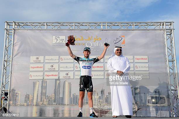 Tour of Qatar 2013 / Stage 5 Podium / Mark CAVENDISH Celebration Joie Vreugde / Al Zubara Fort Madinat Al Shamal / Ronde Etape Rit /Tim De Waele