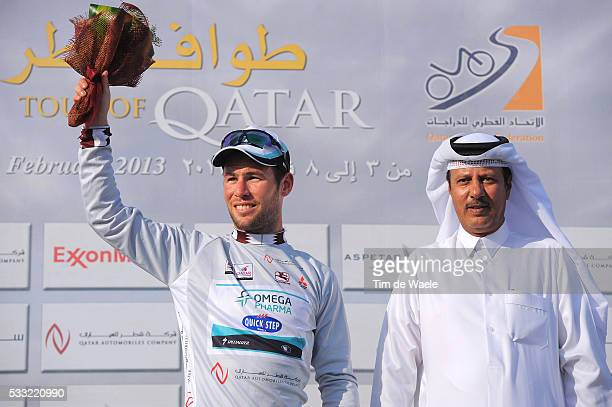 Tour of Qatar 2013 / Stage 5 Podium / Mark CAVENDISH Silver Jersey / Celebration Joie Vreugde / Al Zubara Fort Madinat Al Shamal / Ronde Etape Rit...