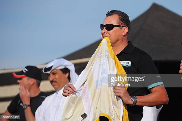 Tour of Qatar 2013 / Stage 5 Podium / Wilfried PEETERS Sportsdirector / Yellow Jersey / Team Omega Pharma QuickStep OPQS / Al Zubara Fort Madinat Al...