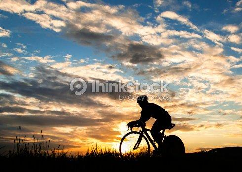 Fahrrad-triathlet : Stock-Foto