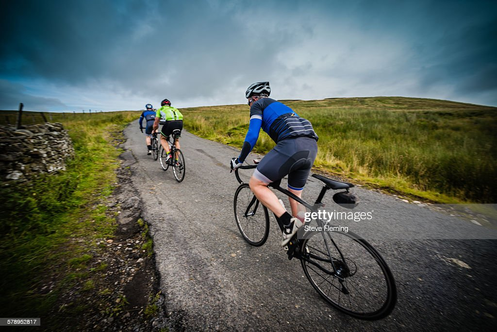 Cycling up Fleet Moss in the Yorkshire Dales