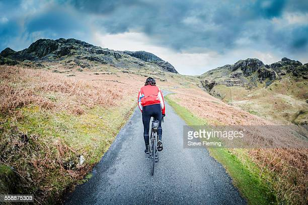 Cycling up the Hardknott Pass