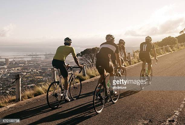 サイクリングを眺め