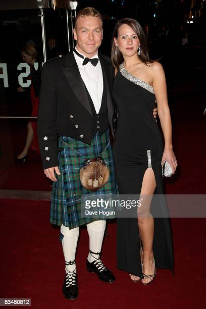 Cyclist Chris Hoy arrives for the Royal World Premiere of the new James Bond 007 film 'Quantum of Solace' at the Odeon Leicester Square on October 29...