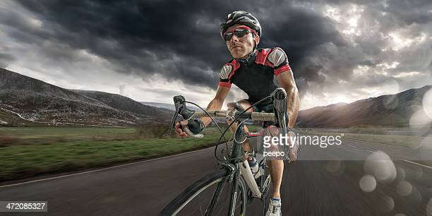 Cyclist Coming Home After Hard Ride