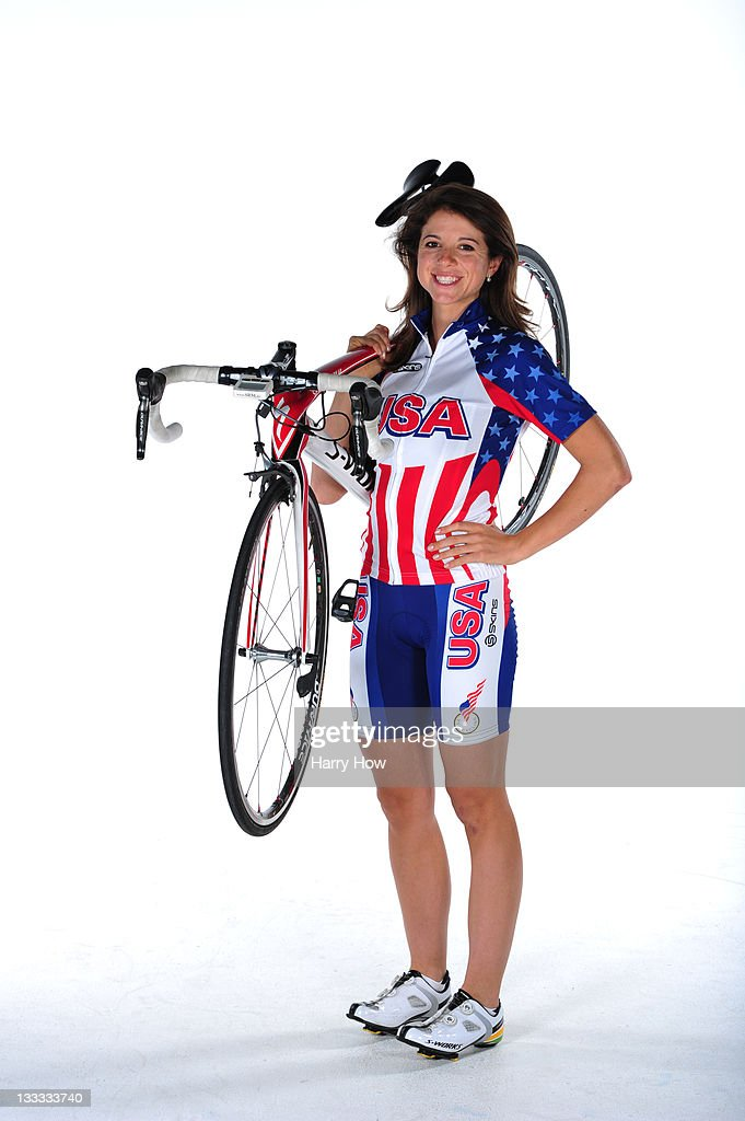 Cyclist Evelyn Stevens poses for a portrait during the USOC Portrait Shoot at Smashbox West Hollywood on November 18 2011 in West Hollywood California