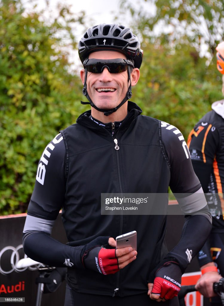 Cyclist <a gi-track='captionPersonalityLinkClicked' href=/galleries/search?phrase=George+Hincapie&family=editorial&specificpeople=534468 ng-click='$event.stopPropagation()'>George Hincapie</a> attends the start of the 2013 Audi Best Buddies Challenge: Washington, DC on October 19, 2013 at Poolesville Golf Course in Poolesville, Maryland.