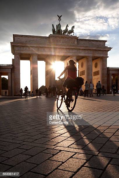 Cyclist in Brandenburg Gate
