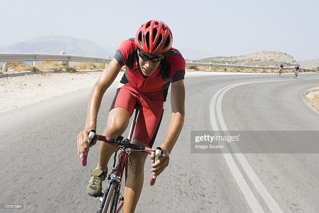 Cyclist in race : Stock Photo