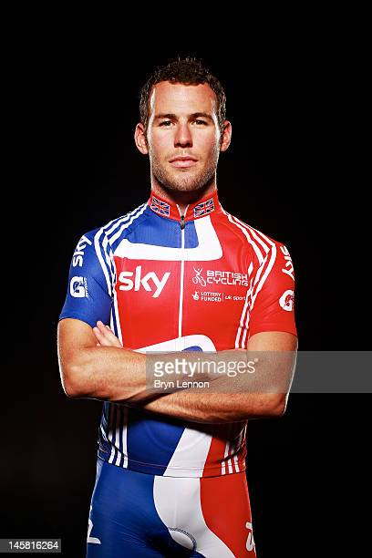 Cyclist Mark Cavendish of Great Britain and Team SKY poses for a portrait session on August 13 2011 in Surrey England