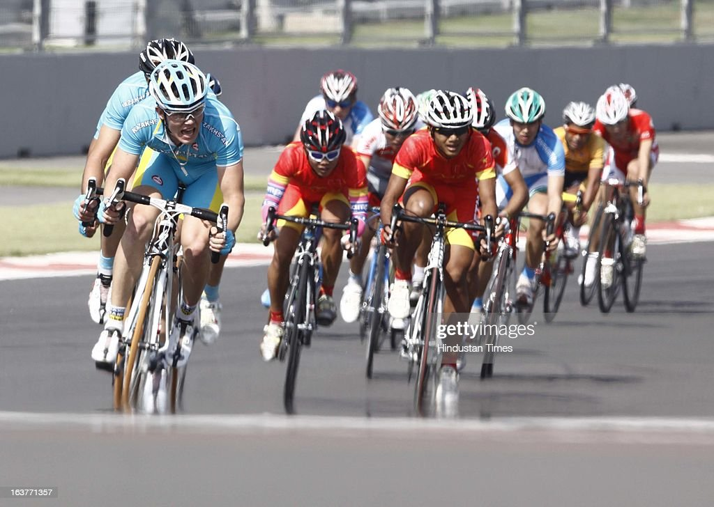 Cyclist participated in the Individual Road Race – Men Junior for the Asian Cycling Championship Road Race at the Buddh International Circuit on March 15, 2013 in Greater Noida, India.