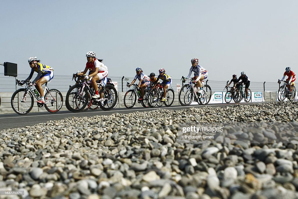 Cyclist participated in the Individual Road Race – Women Junior for the Asian Cycling Championship Road Race at the Buddh International Circuit on March 15, 2013 in Greater Noida, India.