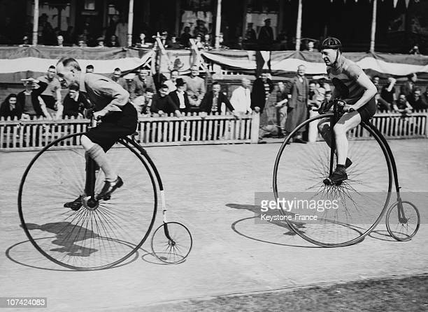 Cyclist Race At Herne Hill In London On June 1938