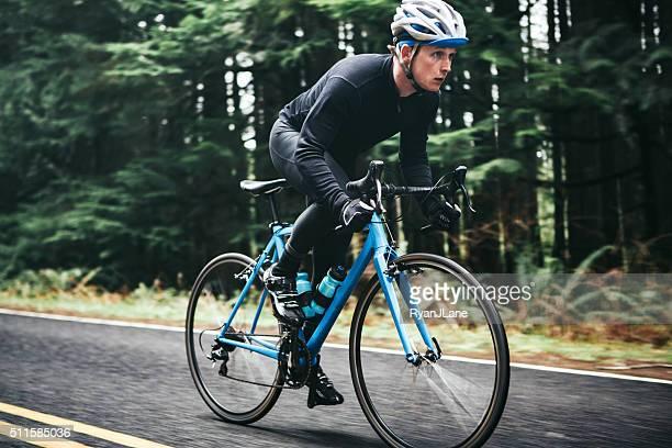 Radfahrer Reiten Berg Straße