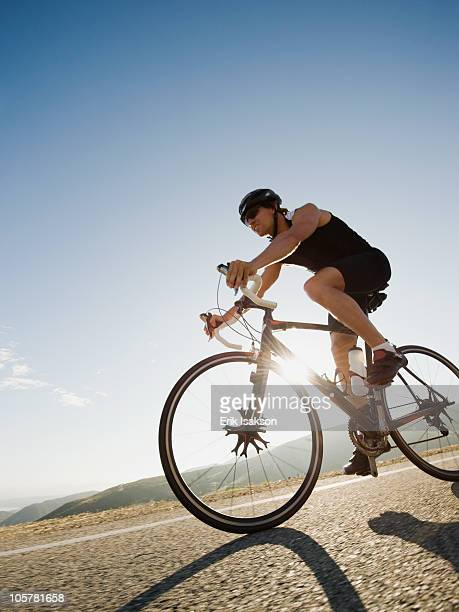 Cyclist road riding