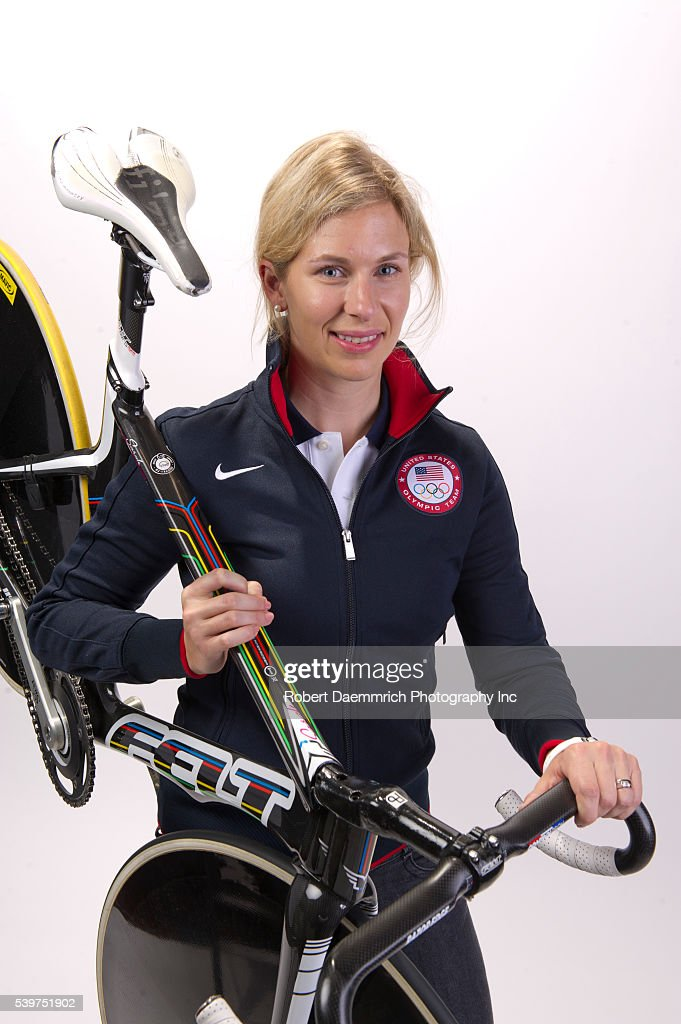 Cyclist <a gi-track='captionPersonalityLinkClicked' href=/galleries/search?phrase=Sarah+Hammer+-+Cyclist&family=editorial&specificpeople=688673 ng-click='$event.stopPropagation()'>Sarah Hammer</a> at the Team USA Media Summit in Dallas, TX in advance of the 2012 London Olympics.