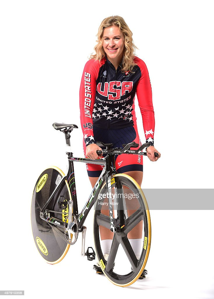 Cyclist <a gi-track='captionPersonalityLinkClicked' href=/galleries/search?phrase=Sarah+Hammer+-+Cyclist&family=editorial&specificpeople=688673 ng-click='$event.stopPropagation()'>Sarah Hammer</a> poses for a portrait at the USOC Rio Olympics Shoot at Quixote Studios on November 19, 2015 in Los Angeles, California.