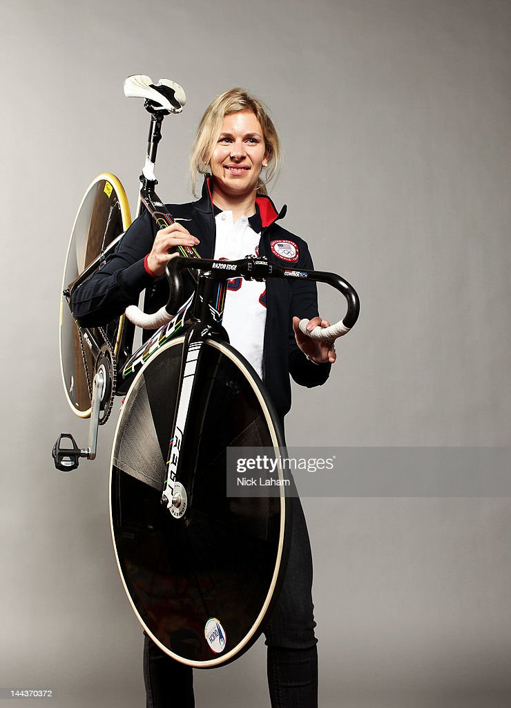 Cyclist, <a gi-track='captionPersonalityLinkClicked' href=/galleries/search?phrase=Sarah+Hammer&family=editorial&specificpeople=688673 ng-click='$event.stopPropagation()'>Sarah Hammer</a> poses for a portrait during the 2012 Team USA Media Summit on May 13, 2012 in Dallas, Texas.