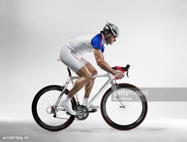 Cyclist, studio shot