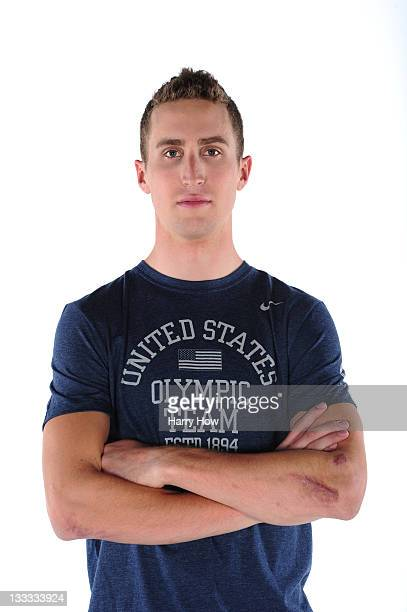 Cyclist Taylor Phinney poses for a portrait during the USOC Portrait Shoot at Smashbox West Hollywood on November 18 2011 in West Hollywood California