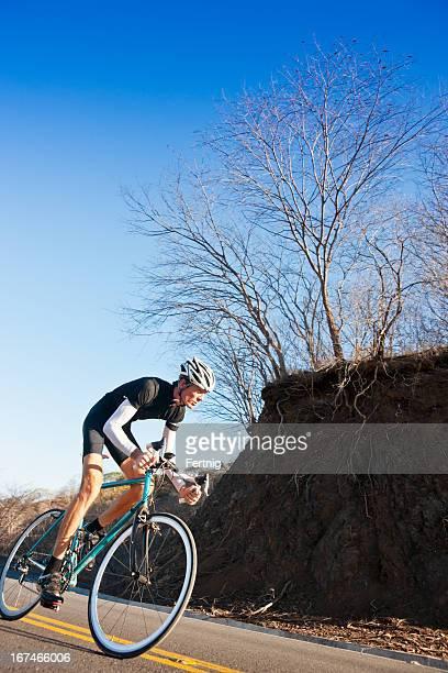 Radfahrer hartes training