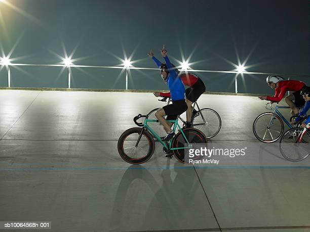 Cyclist wins race