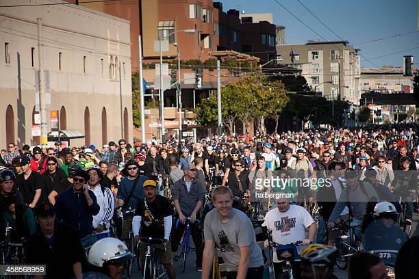 Cyclists at San Francisco Critical Mass