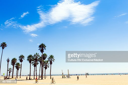 Cyclists at Santa Monica, California, USA