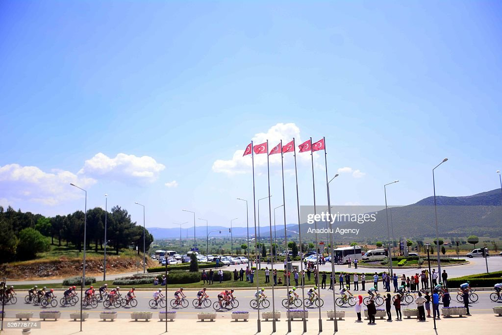 Cyclists begin to compete in the stage of Marmaris - Selcuk lap on the 8th stage of the 52nd Presidential Cycling Tour of Turkey in Mugla, Turkey on May 1, 2016.