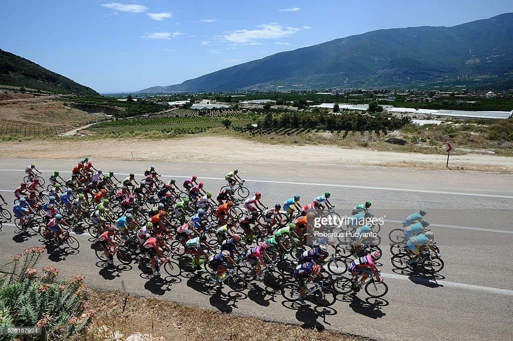 Cyclists compete during Stage 6 of the 2016 Tour of Turkey, Kumluca to Elmali (117 km) on April 24, 2016 in Kumluca, Turkey.