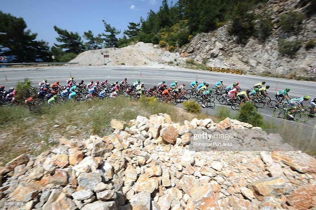 Cyclists compete during Stage 8 of the 2016 Tour of Turkey, Marmaris to Selcuk (201.5 km) on May 1, 2016 in Marmaris, Turkey.
