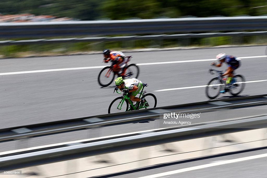 Cyclists compete in the 7th stage of Fethiye - Marmaris lap of the 52nd Presidential Cycling Tour of Turkey in Mugla, Turkey on April 30, 2016.
