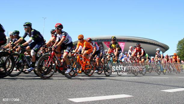 cyclists in front of Spodek arena during the Stage 2 of 74th Tour de Pologne on July 30 2017 in Katowice Poland
