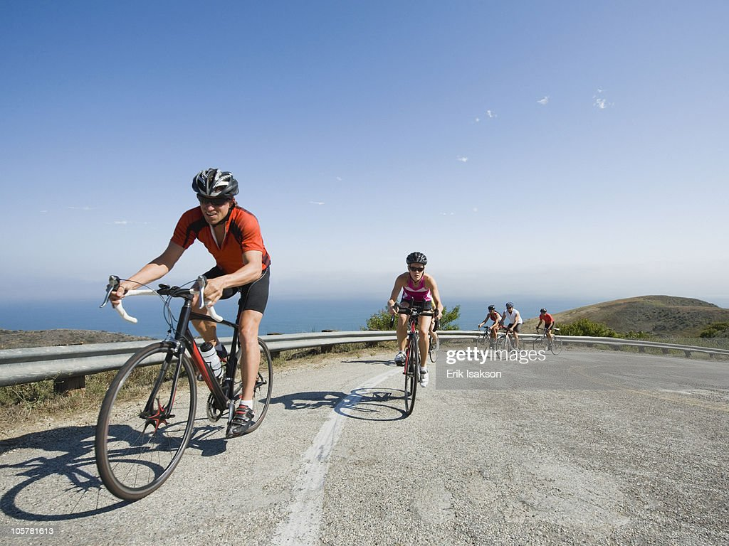 Cyclists in Malibu