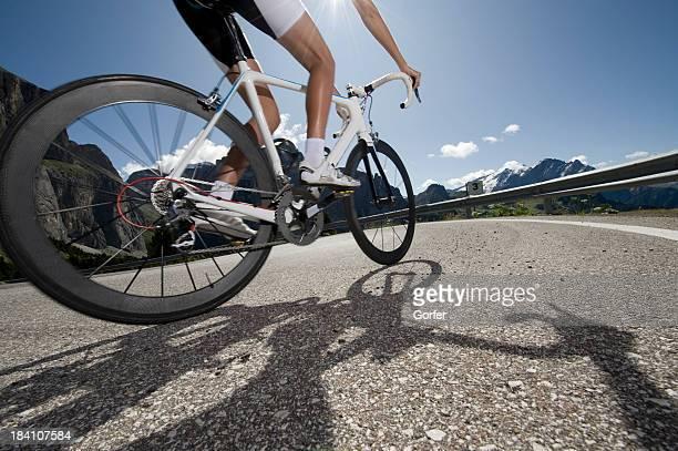 Les cyclistes au rétroéclairage