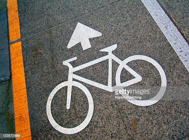 Cyclists pathway sign.