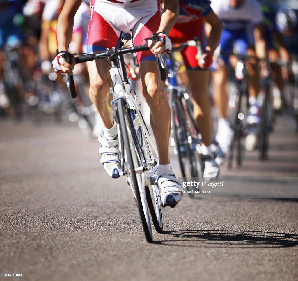 Cyclists Race. Color Image