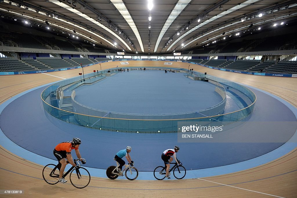 Cyclists Ride In The Velodrome Within Lee Valley Velo Park Formerly 2012 Olympic