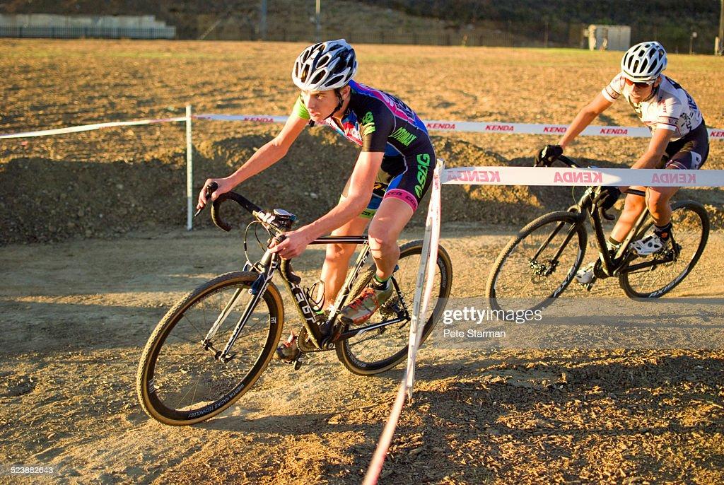 Cyclo Cross competitors racing in Los Angeles.