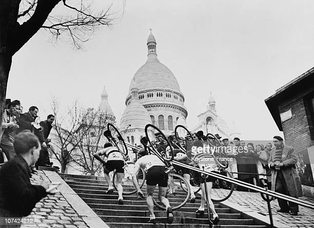 Cyclo Cross Of Montmartre At Paris Sacre Coeur In France