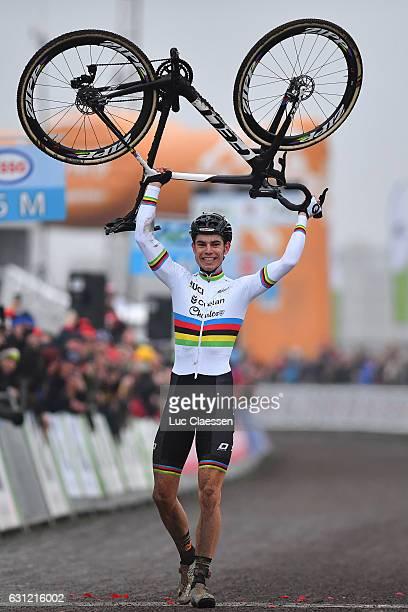 Belgian Championships Oostende 2017 / Men Elite Arrival / Wout VAN AERT Celebration / / Men Elite / Tim De WaeleLC/Tim De Waele/Corbis via Getty...